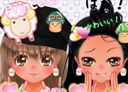 Anime purikura bff make over