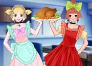 Anime maid BFF dress up