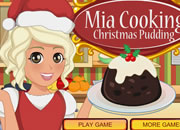 Mia Cooking Christmas Pudding