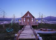 Wooden Lake House
