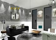 Dark Grey Living Room Escape