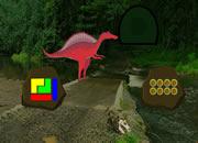 Red Dino Forest Escape